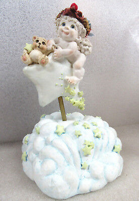 Dreamsicles TWINKLE TWINKLE LITTLE STAR Cast Art Cherub Angel Music Box