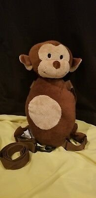Eddie Bauer Brown Monkey backpack harness safety leash plush toddler
