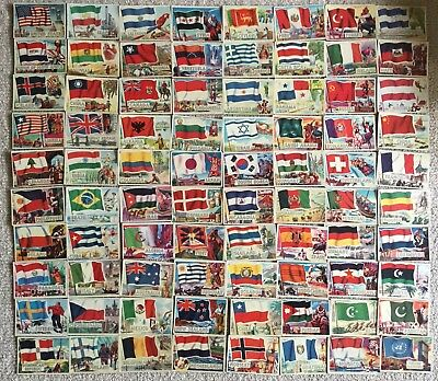 1956 A & BC Flags Of The World Complete Set UK Print Not Topps