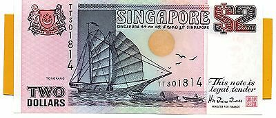SINGAPORE $2 Dollars ND 1997 P34 UNC Banknote