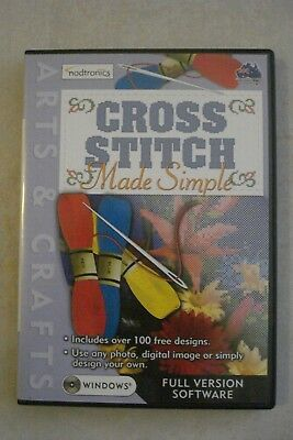 - Cross Stitch Made Simple [Pc Cd-Rom] Brand New [Aussie Seller [Now $24.75]