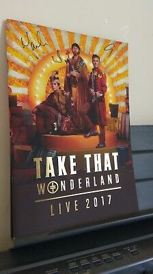 Take That Autographs *Wonderland*2017 Hand Signed tour Programme Gary Barlow