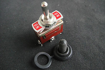 Heavy Duty 20A 125V 3 Terminal ON/OFF/ON Toggle Switch w/ Waterproof Boot SPDT