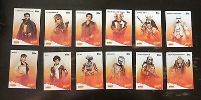 COMPLETE 12-Card SET 2018 DENNY'S Topps SOLO A STAR WARS STORY Trading Cards