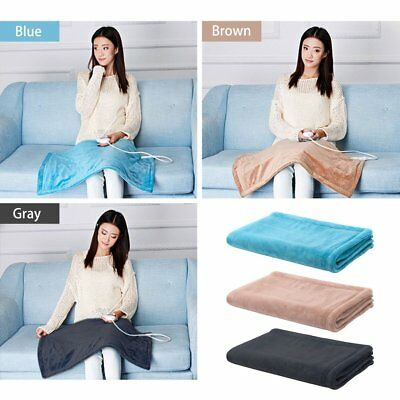 Washable Electric Heated Throw Rug Snuggle Blanket 3 Smart Heat Settings UI