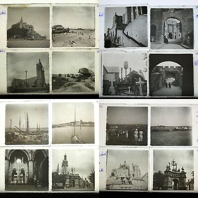 FRANCE PAYSAGES 1930 36 PLAQUES STEREO 45x107 VUES STEREOSCOPIQUES
