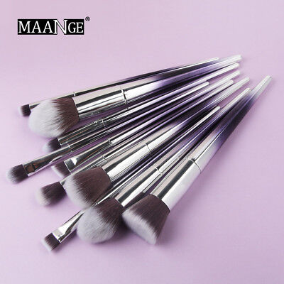 10PC Make up Brush Set Cosmetic Foundation Eyeshadow Eyeliner Powder Brush Nice