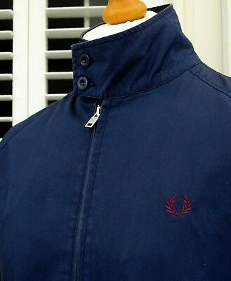 Fred Perry J5201 Carbon Blue Harrington - L/XL - Mod Ska Scooter Casuals Skins