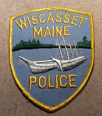 ME Wiscasset Maine Police Patch