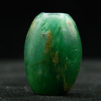 KYRA MINT - ANCIENT Serpentine BEAD - 20.5 mm long - Saharian NEOLITHIC