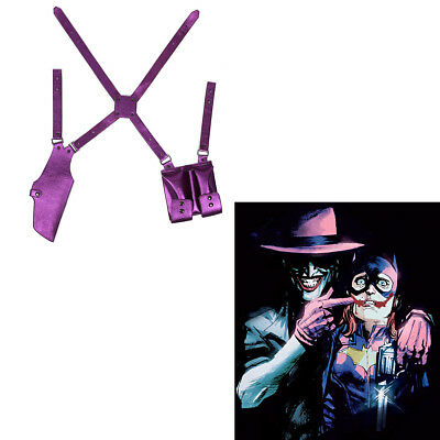 Suicide Squad Joker Cosplay Belt Holster Gun Case Shoulder Strap Costume Props