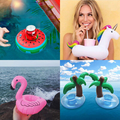 4x Inflatable Floating Drink Can Cup Holder Hot Tub Swimming Pool Beach RLTS