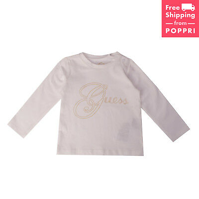 GUESS Top 12M Embellished Front Long Sleeve Crew Neck A71I56K5E50