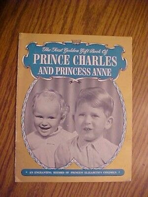 Vintage The First Golden Gift Book of Prince Charles and Princess Anne