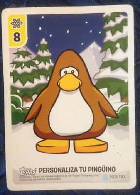 Penguin Club Card (Topps) Personaliza Tu Pinguino, used, as per photo