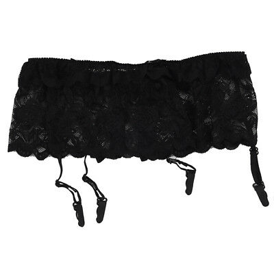Suspender Belt - Narrow Slim Sexy or Burlesque Wide Deep Lace for Stockings V8B9