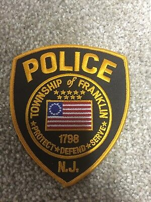 Franklin Twp. New Jersey Police Patch - Police Unity Tour - Somerset County, Nj