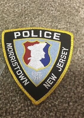 Morristown New Jersey Police Patch - Police Unity Tour - Morris County, Nj