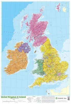 Map of UK and Ireland 9780721709383 (Poster, 2002)