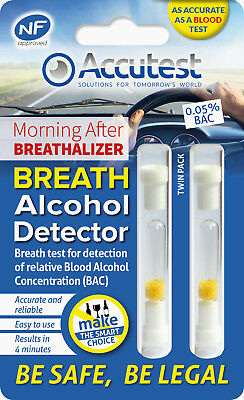 Alcohol Disposable Breathalyser x 2 - Accurate as a Blood Test - NF Approved