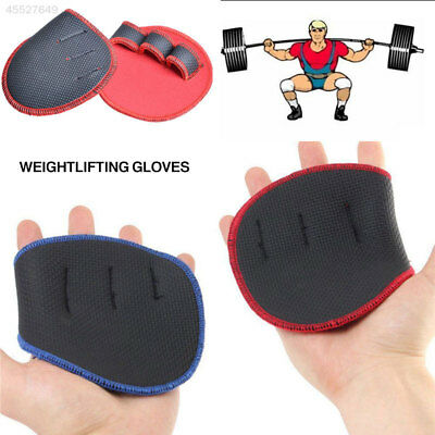 Weight Lifting Training Grip Pads Gloves Fingerless Gym Fitness Body Building