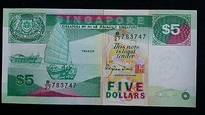 SINGAPORE $5 Dollars ND 1997 P35 UNC Banknote