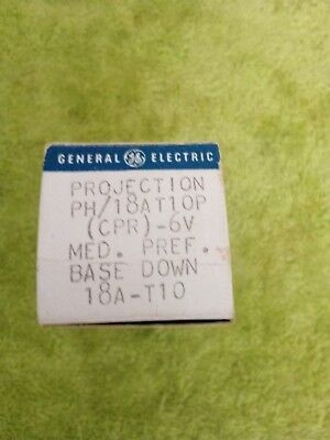 New in Box GE Projection Bulb Lamp PH/18AT10P (CPR) -6V 18A-T10