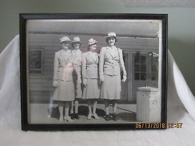 Original World War 2 Picture Of Red Cross Nurses Dated Aug. 5, 1942