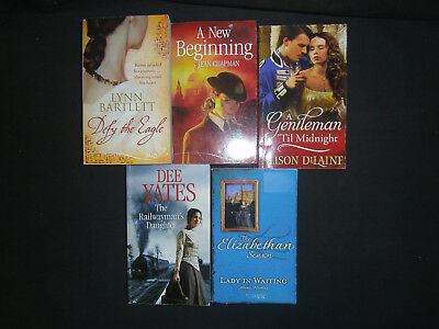 5 Mills & Boon Historical Romance Paperbacks Roman Wwii Elizabethan Victorian