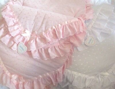 Kinder Broderie Anglaise Baby 3 in 1 Romany Spanish Style Cosy Toes Footmuff