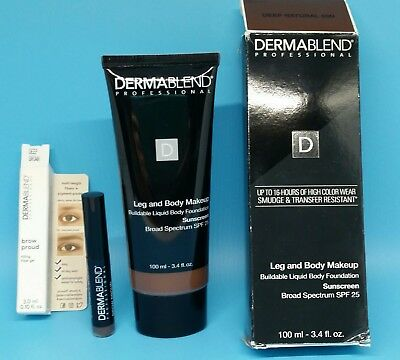 Get Both!!  New  Leg & Body Makeup Deep Natural 85N, AND Brow Proud Deep Brown