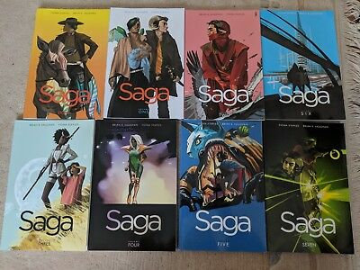 Saga Comic Band 1-8 (Graphic Novels, Game Of Thrones des Comics)