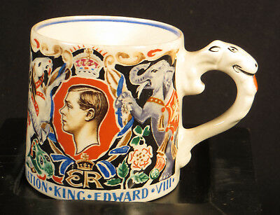 CORONATION KING EDWARD V111 CUP LAURA KNIGHT DESIGN ST GEORGE DRAGON w/ papers