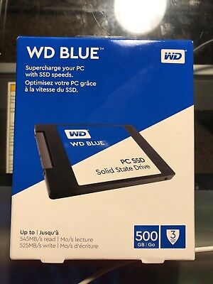 NEW  WD - Blue PC SSD 500GB Internal SATA Solid State Drive Lowest Price! Fast!