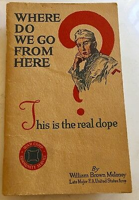 WW1 Discharge Guide Booklet 1919 60 Pages Where do we go from here  Booklet