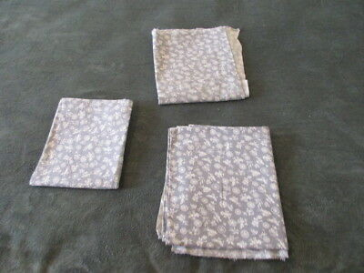 3 MATCHING FEED SACKS - Gray & White - Flour Bag - Vintage Fabric - Material