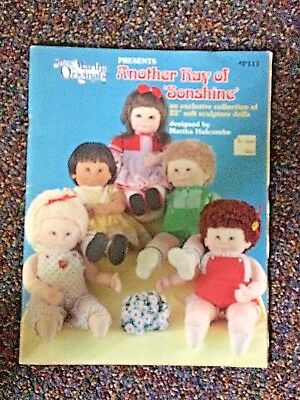 "1983 Soft Sculpture 22"" Doll Making Pattern Book Another Ray Of Sonshine P111"