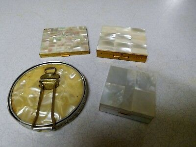 Mother of Pearl Compact/Mirror - No Maker Listed