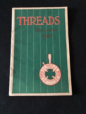 Threads 1919 Pamphlet The Geometric Tool Company