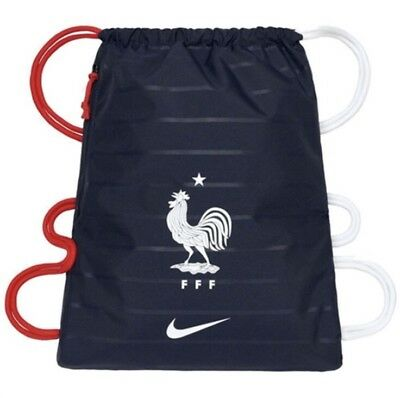 589b47a529b1f Nike Team France Soccer Gym Drawstring Stadium Bag World Cup Navy Red White