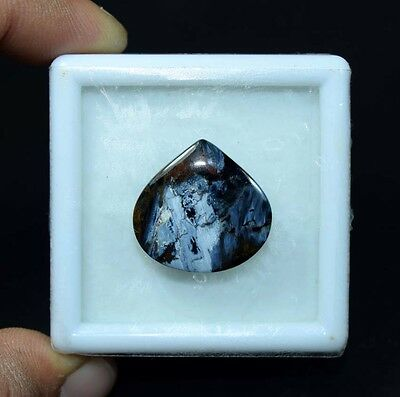 13.80 Cts. 100 % Natural Chatoyant Pietersite Pear Cabochon Loose Gemstones