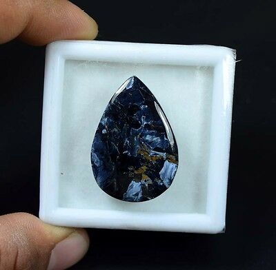 26.10 Cts. 100 % Natural Chatoyant Pietersite Pear Cabochon Loose Gemstones