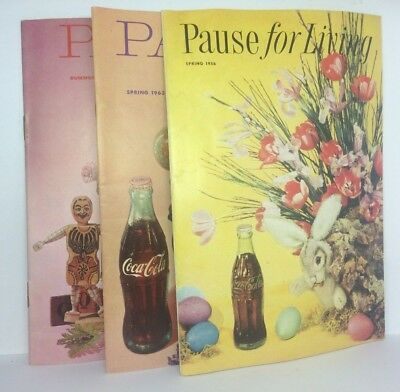 Pause For Living 1956 1962 1963 Coca-Cola Advertising Collectible Booklets Craft