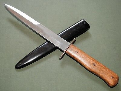 German WW2 LUFTWAFFE FIELD DIVISION BOOT TRENCH FIGHTING KNIFE + SCABBARD N/MINT