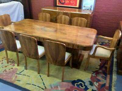 Superb Hille 8 seater Figured  Walnut Art Deco  Dining Suite c 1925-35