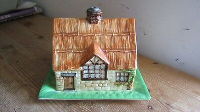 Beswick Ware Butter or Cheese Dish in Thatched Cottage Pattern Number 251