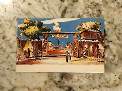 Excellent Cond. Disneyland 1955 Concept Postcard P11877 Entrance To Frontierland