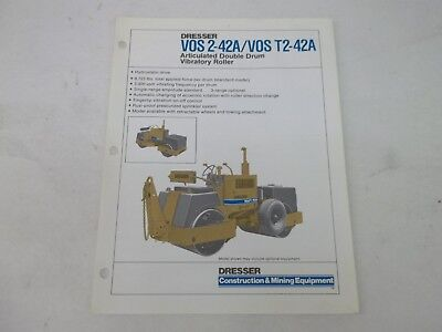 Dresser Vos 2-42A T2-42A Articulated double drum vibratory roller Sales Brochure