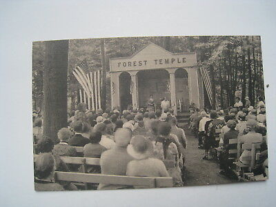 """Rppc Forest Temple Lily Dale Assembly Chautauqua  Ny Photo Postcard """"evielena"""""""