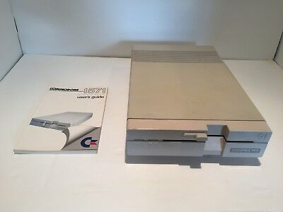 Commodore 1571 Disk Drive - Tested and Working! - With User's Guide!